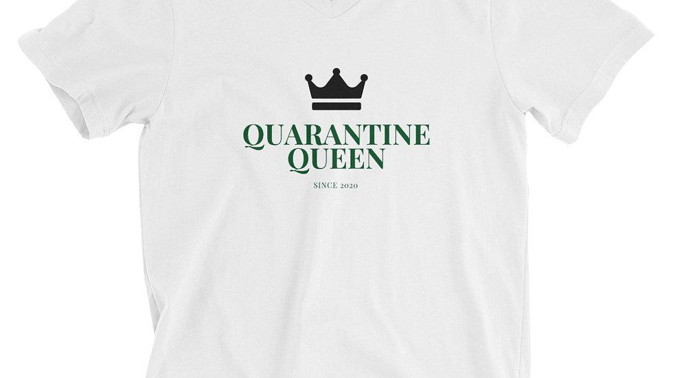 Unisex Quarantine Queen V Neck Tee