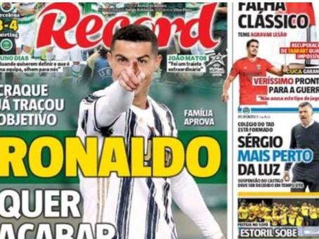 纪录报:C罗希望回归葡萄牙体育,并在母队退役