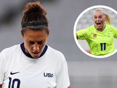Humiliation: USWNT embarrassed in Olympic opener as Sweden sweep aside tournament favourites