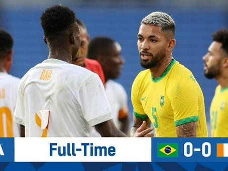 奥运男足-各罚下一人!巴西国奥0-0平科特迪瓦