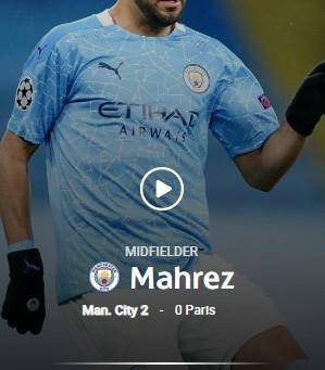 官方:马赫雷斯当选本周欧冠最佳球员