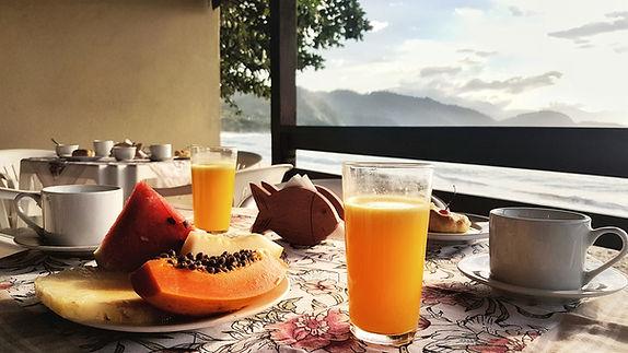 breakfast at Pousada do Pelé
