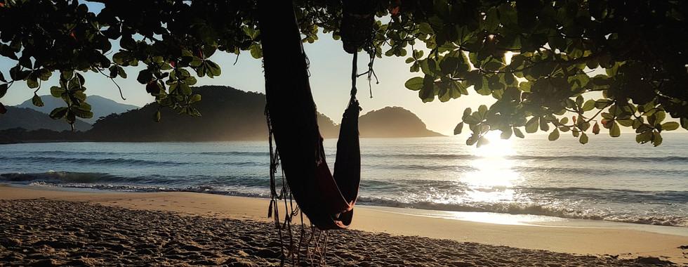 Sossego na Praia do Caixa D'Aço.