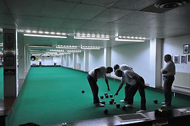Members playing bowls Rink 1