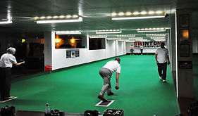 Members playing bowls Rink 2