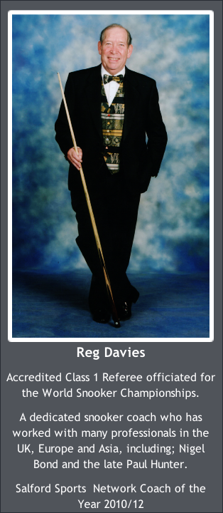 Reg Davies WPSBA Snooker Coach