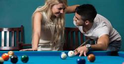 Couple Playing Pool