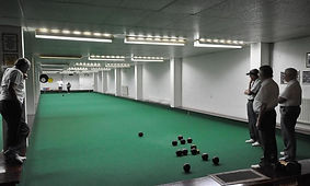 Members playing bowls