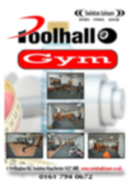 The Poolhall Gym Flyer
