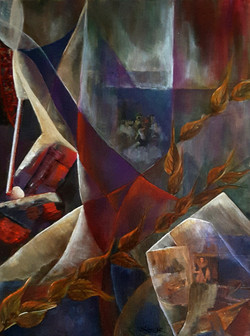 Victorian Culture - 18x24 acrylic, mixed media