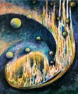 Journey of Souls - 20x24 acrylic mixed media