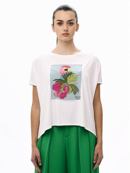 """T-shirt con Applicazione in Seta - Modello """"Raglan"""""""