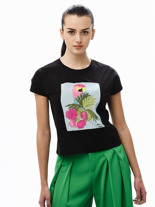 """T-shirt con Applicazione in Seta - Modello """"Giapponese"""""""