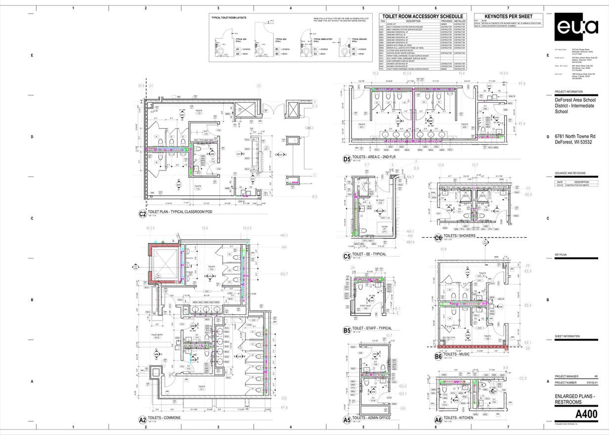 enlarged restroom plans