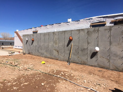 west concrete wall