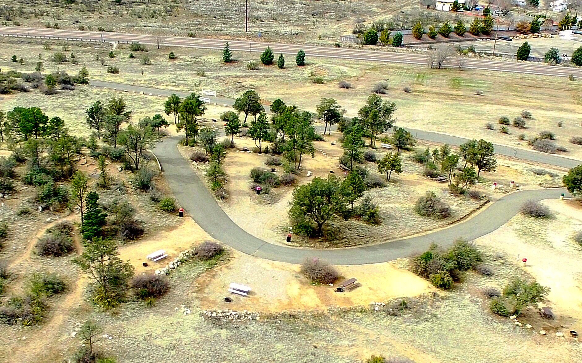 Little Stinger Campground Aerial