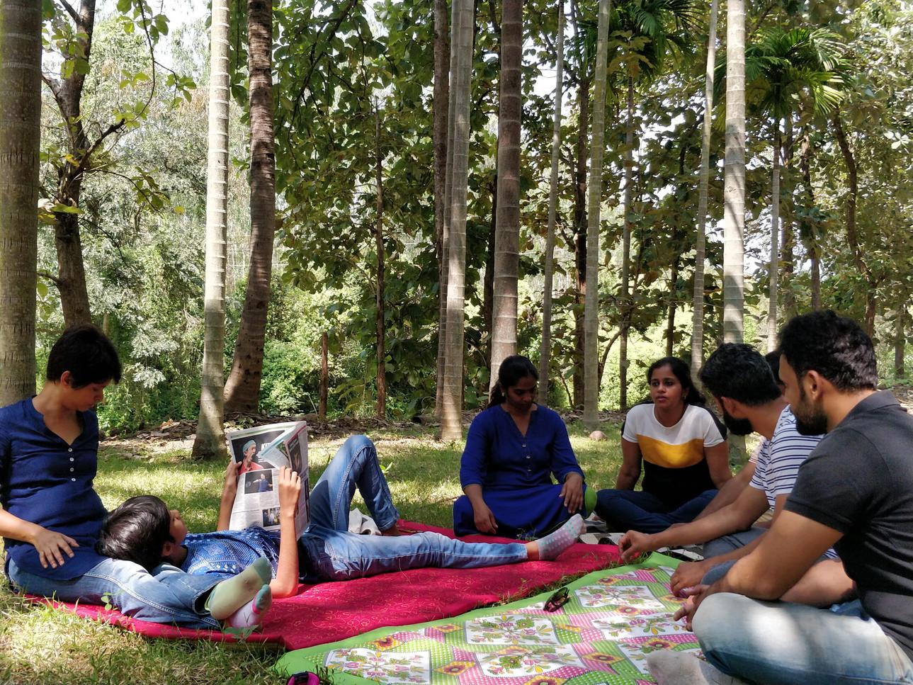 At a retreat
