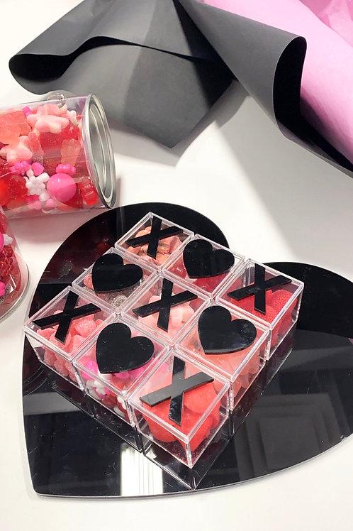 Candy Tic Tac Toe - Acrylic refillable Box