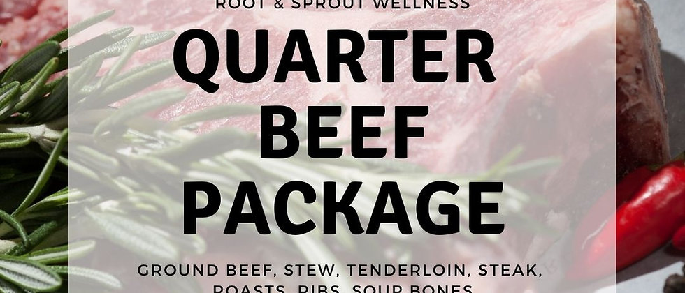 Quarter Beef Package (90 lbs)