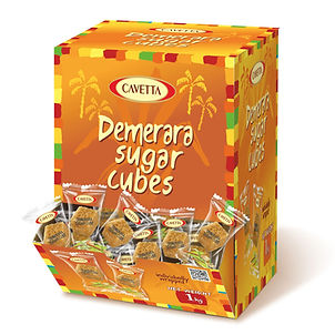 Cukier trzcinowy w kostkach regularnych pakowanych w folie 1000g