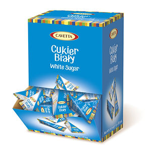 Biały cukierw piramidkach w dyspenserze 500 sztuk