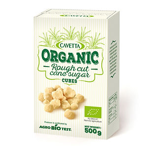 Cavetta organic rough cut cane sugar cubes500g