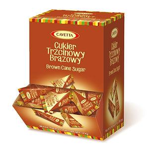 Cukier trzcinowy w piramidkach w dyspenserze 500 sztu
