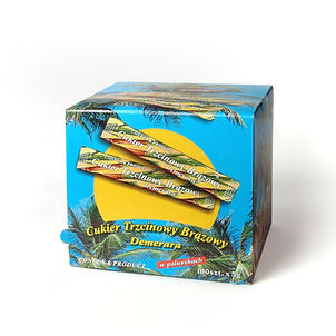 Cane sugar in sachets in the dispenser 100 pcs