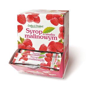 Syrop o smaku malinowym w saszetkach 50 sztuk