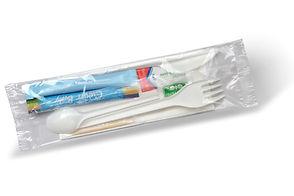 ZESTAW CATERINGOWY  cukier, zabielacz, nóż, widelec, łyżeczka, wykałaczka