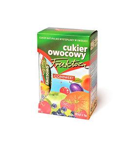 Cukier owocowy fruktoza w paluszkach 90g