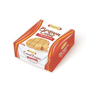 Cukier trzcinowyw kostkach regularnych układanych500g