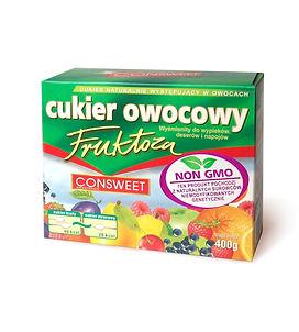 Cukier owocowy fruktoza kartonik 400g