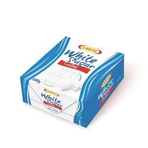 Cukier w kostkach regularnych układanych białych 500g