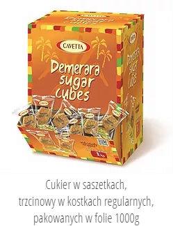Kostki cukru w saszetkach