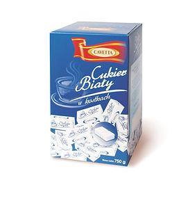 Cukier biały w kostkach regularnych pakowanych w papierek 750g