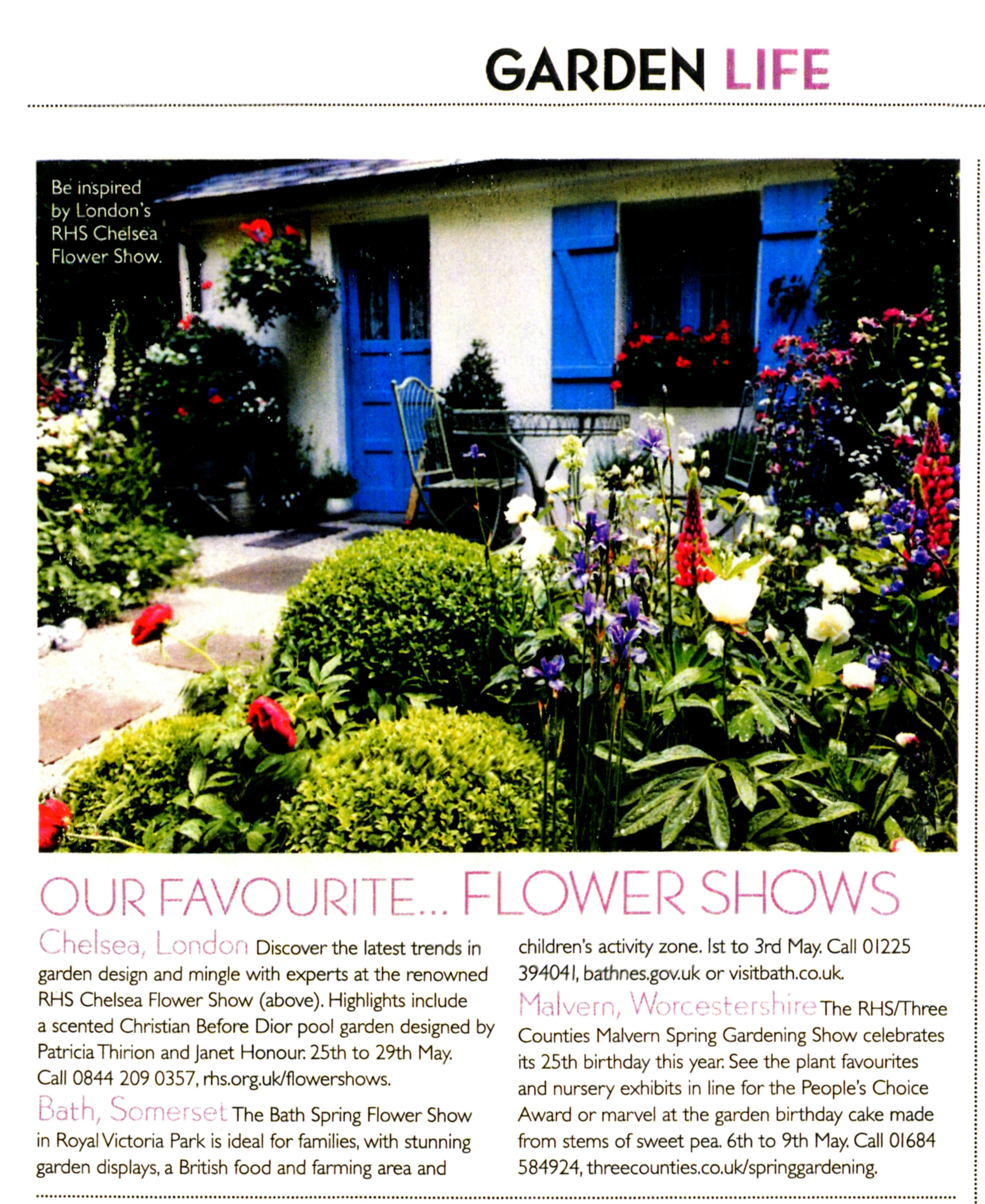 Country Homes and interiors article