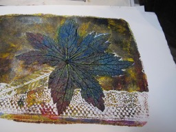 using natural objects for printmaking