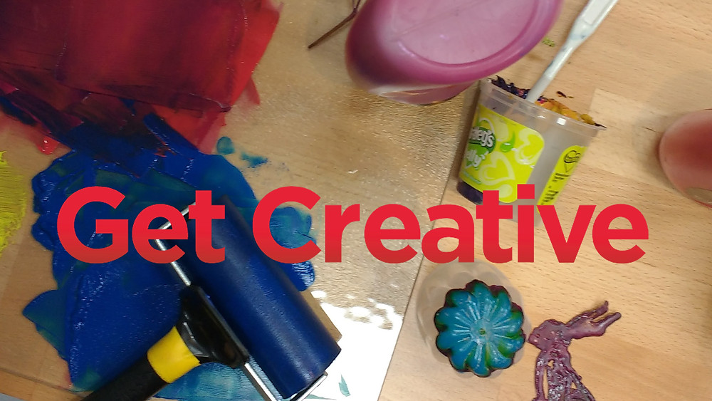 Get Creative image with gelatine plate