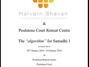 "The ""algorithm"" for Samadhi 1. Rajesh Rai facilitating a retreat at Poulstone Retreat Cent"