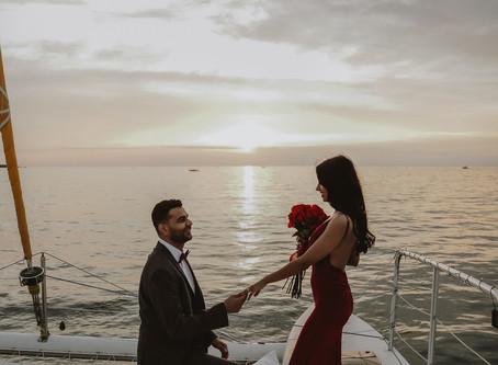 Michigan Surprise Proposal at sunset    The Proposal Effect