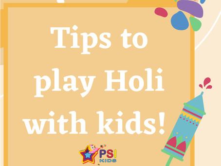 Holi with Kids!