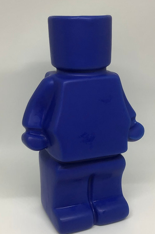 Block Man Planter- Blue