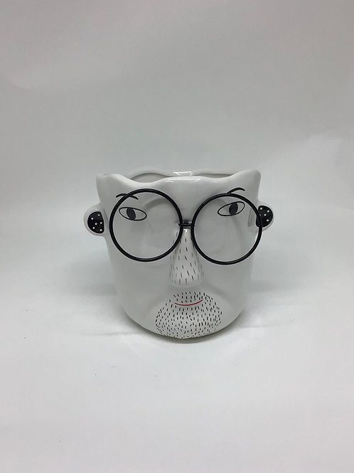 Man with Glasses Planter