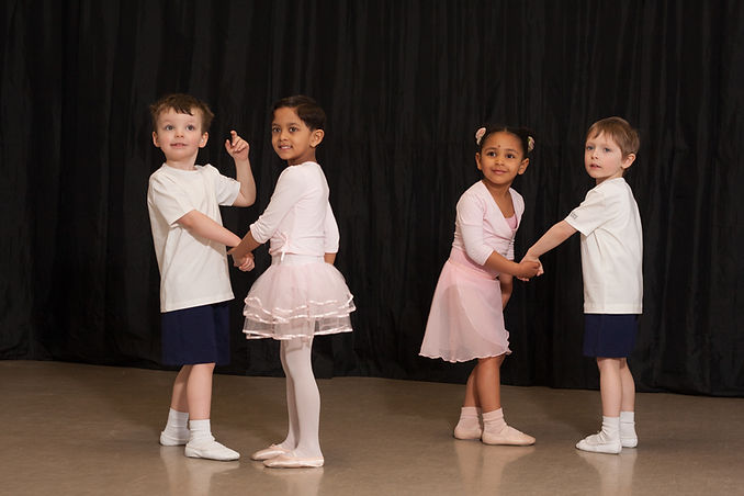 Danscentre pre-school classes focus on boys' and girls'natural movement and development.