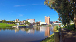 Adelaide Riverbank City skyline from acr