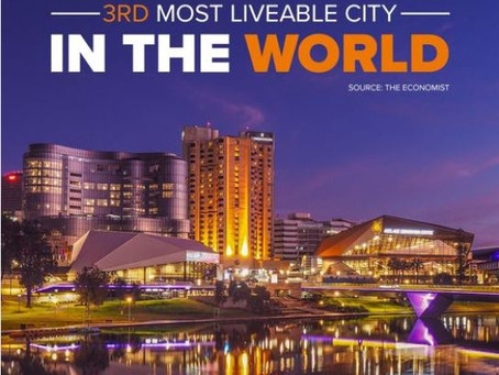 Very Excited - Adelaide rates 3rd liveable City in the world