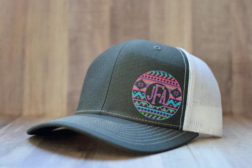 Serape Monogram Hat