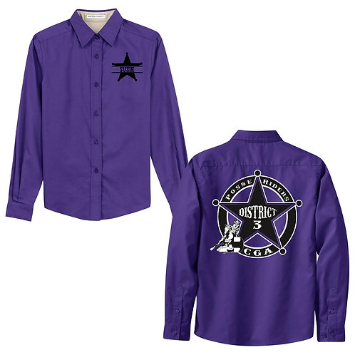 Posse Riders Long Sleeve Button Up