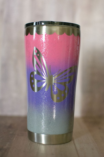 Hombre Butterfly Tumbler